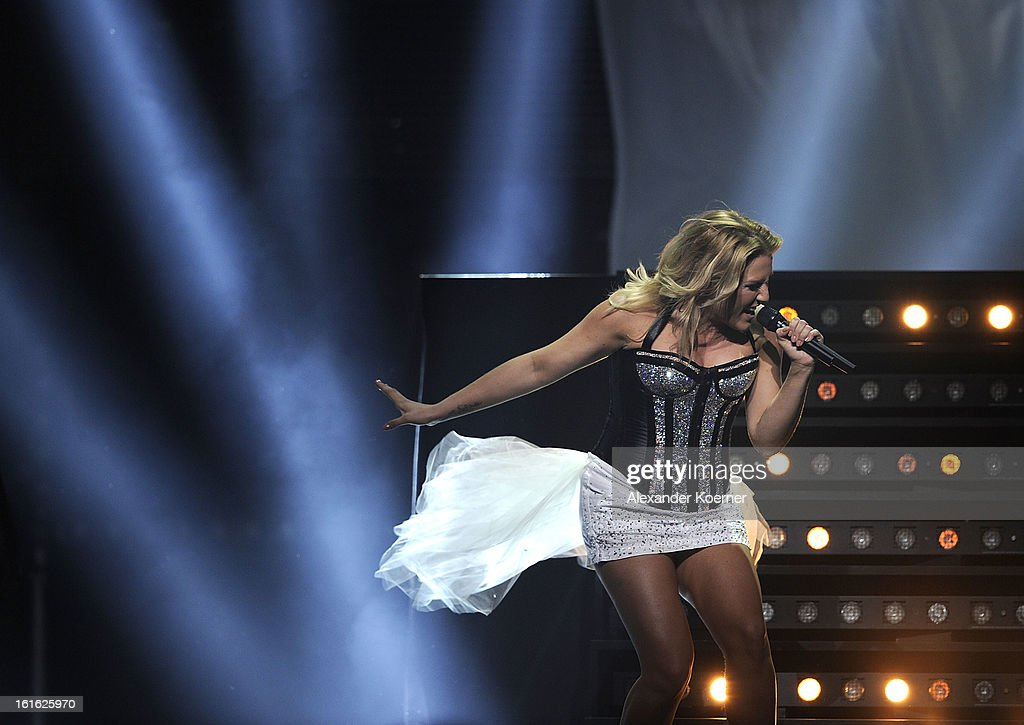 Cascada performs during the TV Show rehearsals of 'Our Star For Malmoe' on February 13, 2013 in Hanover, Germany. 'Our Star For Malmoe' is a national contest to vote for the German contestant for the 58th Eurovision Song Contest taking place in Malmoe, Sweden in May 2013.
