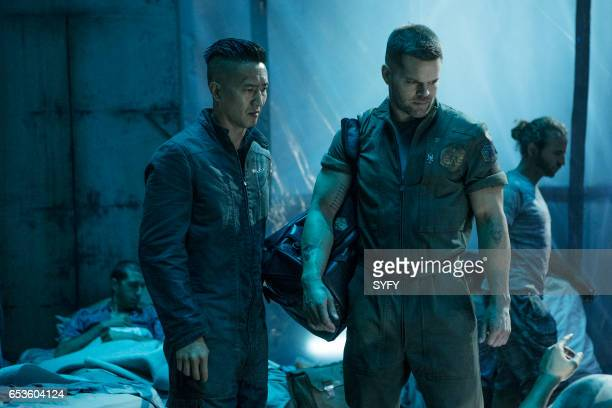 """Cascade"""" Episode 210 -- Pictured: Terry Chen as Praxideke Meng, Wes Chatham as Amos Burton --"""