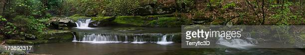cascade waterfalls on westkill stream, catskills panorama - terryfic3d stock pictures, royalty-free photos & images
