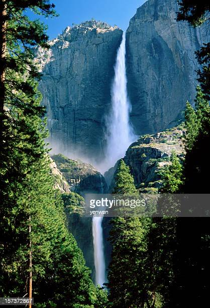 Wasserfall Upper und Lower Yosemite Falls