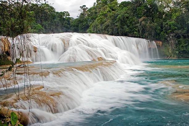 Cascades in the Parque Nacional Agua Azul 60 km far away from Palenque Mexico