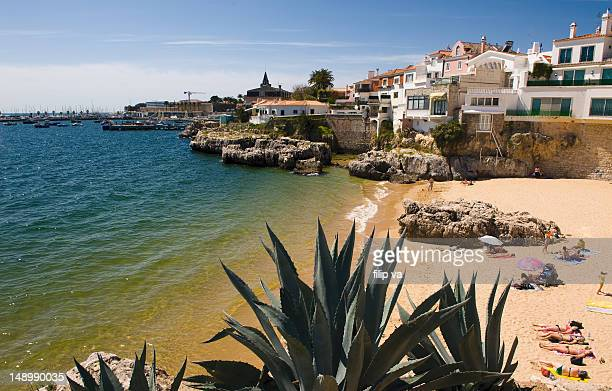 cascais beach - cascais stock photos and pictures