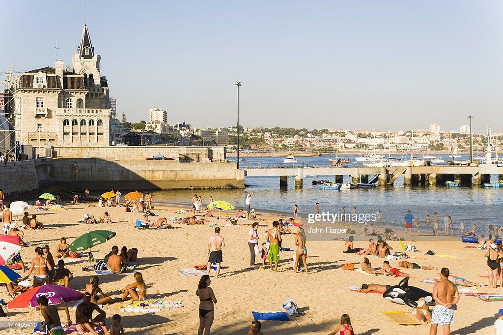 Cascais Beach Resort Lisbon Portugal Stock Photo