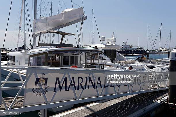 Cascais Marina on August 16 2016 in Cascais Portugal With capacity for 650 vessels Cascais Marina has been constantly improving its facilities and...