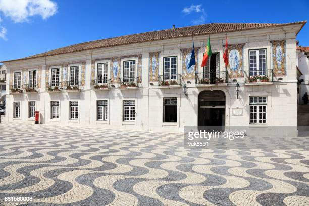 cascais town hall - cascais stock photos and pictures