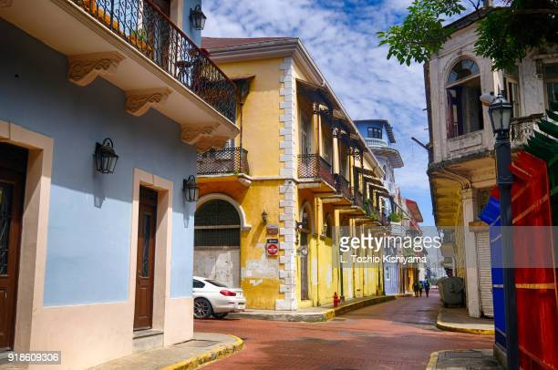 casco viejo at panama city, panama - central america stock pictures, royalty-free photos & images