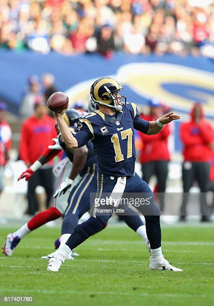 Case Keenum of Los ANgels Rams in action during the NFL International Series match between New York Giants and Los Angeles Rams at Twickenham Stadium...