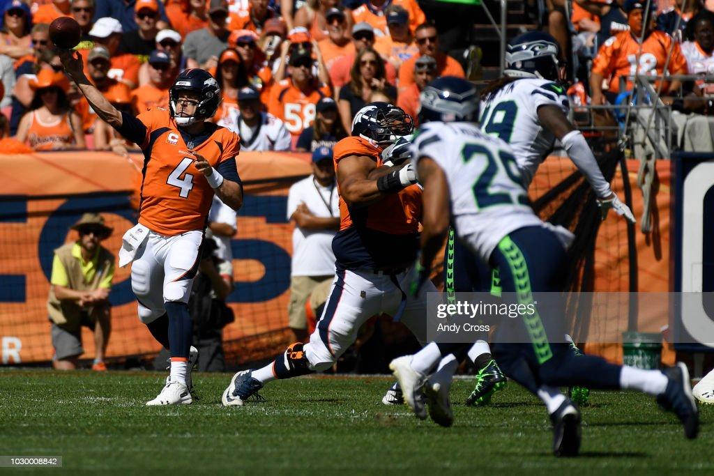 Denver Broncos vs. Seattle Seahawks, NFL Week 1 : News Photo