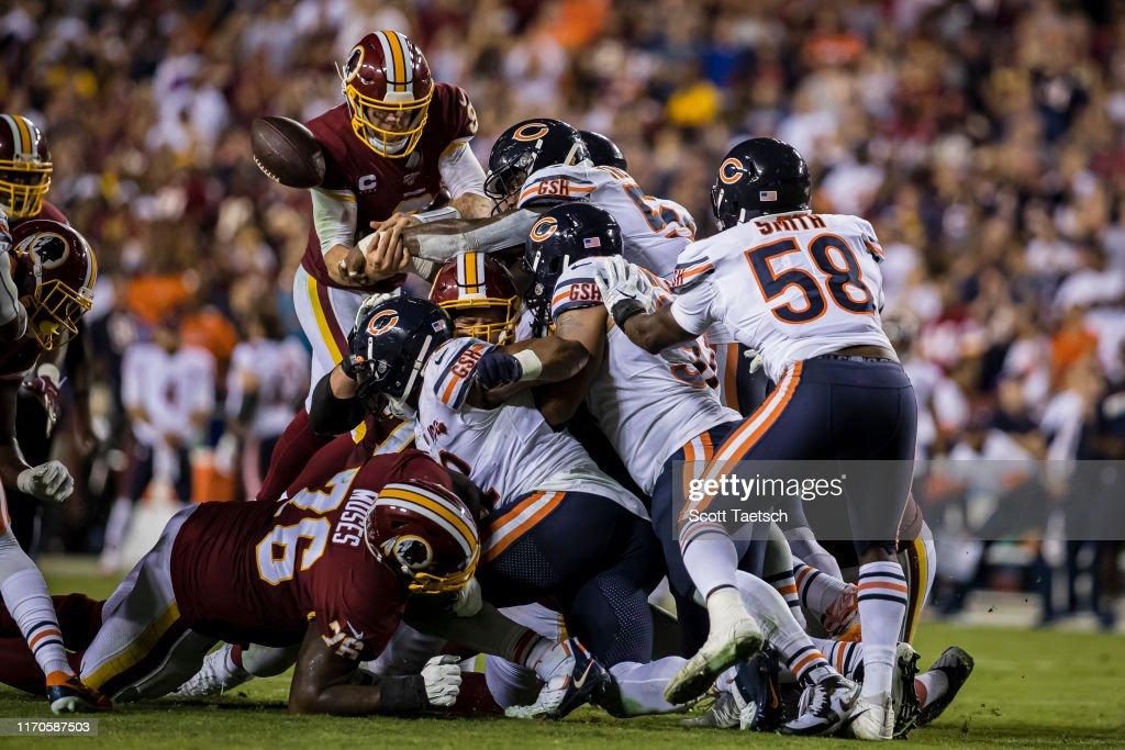 Chicago Bears v Washington Redskins : Foto jornalística