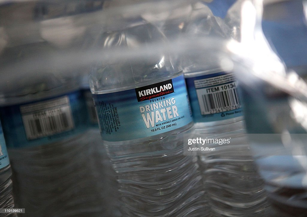 A case of bottled water sits on a shelf in an office on March 15, 2011 in San Francisco, California. The multi-million dollar bottled water industry continues to prosper despite outrage from environmentalists who point out that at least half of the empty bottles end up in landfills instead of being recycled. Environmental groups are encouraging people to use reusable containers and get their water from the tap which is safe to drink in over 90 percent of the United States.