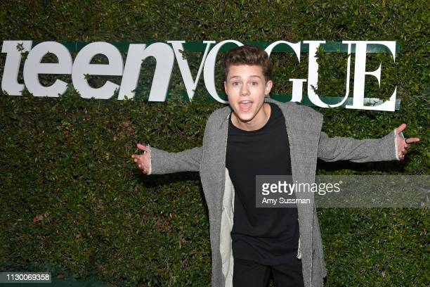 Case Walker attends Teen Vogue's 2019 Young Hollywood Party Presented By Snap at Los Angeles Theatre on February 15 2019 in Los Angeles California