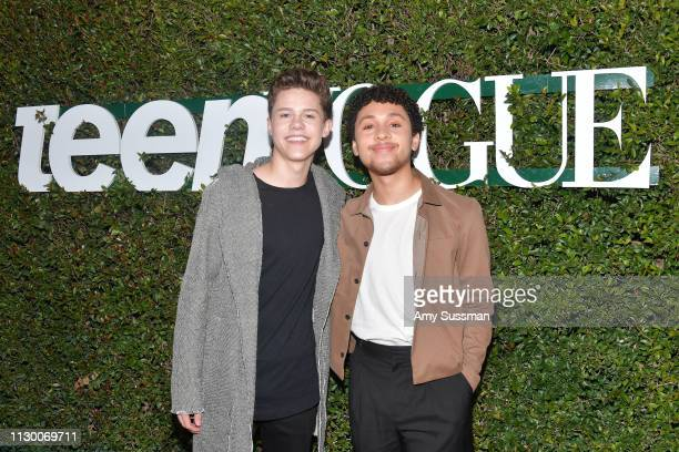 Case Walker snd Jaboukie YoungWhite attend Teen Vogue's 2019 Young Hollywood Party Presented By Snap at Los Angeles Theatre on February 15 2019 in...