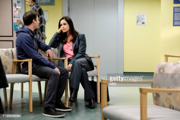 NINE Casecation Episode 612 Pictured Andy Samberg as Jake Peralta Melissa Fumero as Amy Santiago