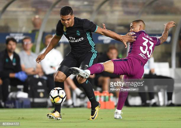 Casemiro of Real Madrid defends against Gabriel Jesus of Manchester City during the first half of their International Champions Cup 2017 soccer match...