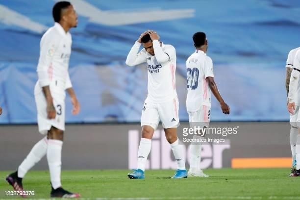 Casemiro of Real Madrid Disappointed during the La Liga Santander match between Real Madrid v Sevilla at the Estadio Alfredo Di Stefano on May 9,...