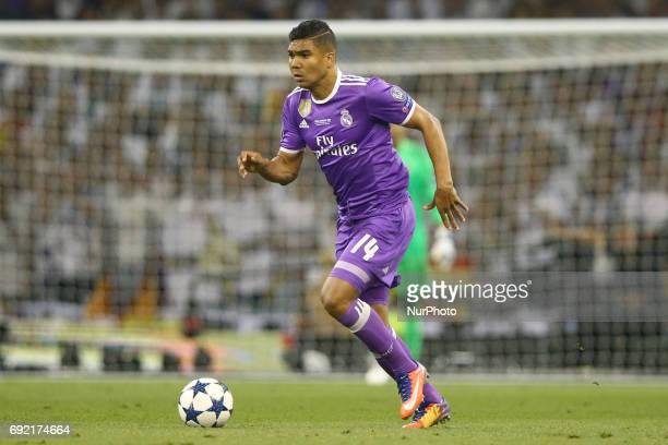 Casemiro of Real Madrid during the UEFA Champions League Final between Juventus and Real Madrid at National Stadium of Wales on June 3 2017 in...