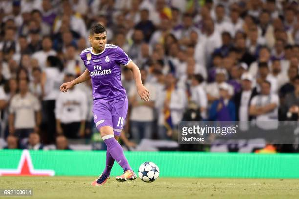 Casemiro of Real Madrid during the UEFA Champions League Final match between Real Madrid and Juventus at the National Stadium of Wales Cardiff Wales...