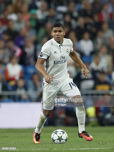 Casemiro of Real Madrid during the UEFA Champions League group F match between Real Madrid and Sporting Club de Portugal on September 14 2016 at the...