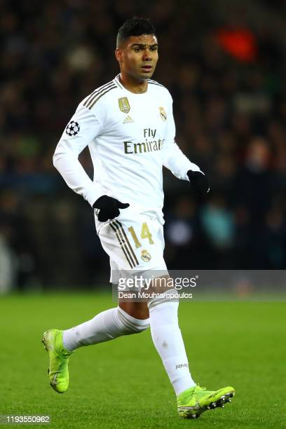 Casemiro of Real Madrid in action during the UEFA Champions League group A match between Club Brugge KV and Real Madrid at Jan Breydel Stadium on...
