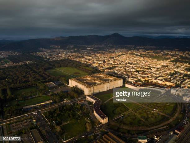 Caserta cityscape from Aerial view