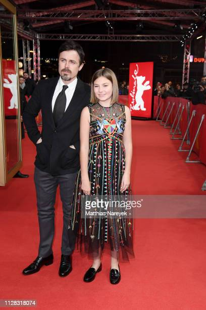 Casey Affleck and Anna Pniowsky attend the Light Of My Life premiere during the 69th Berlinale International Film Festival Berlin at Zoo Palast on...