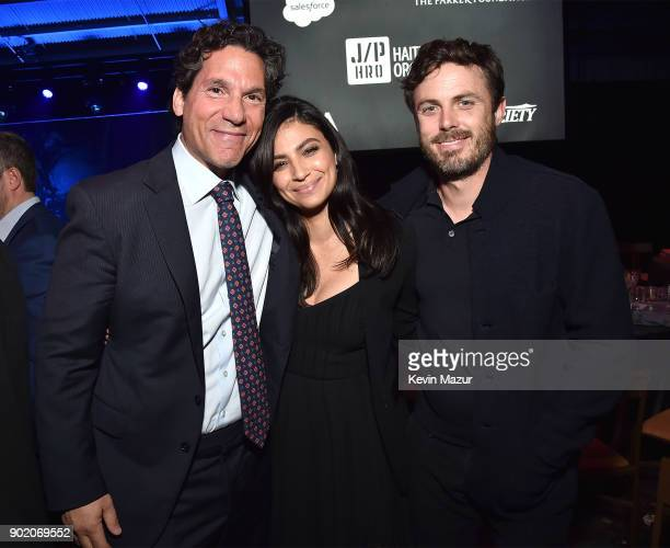 Casey Affleck and Floriana Lima attend the 7th Annual Sean Penn Friends HAITI RISING Gala benefiting J/P Haitian Relief Organization on January 6...
