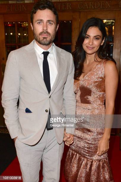 Casey Affleck and Floriana Lima attend the The Old Man The Gun premiere during 2018 Toronto International Film Festival at The Elgin on September 10...