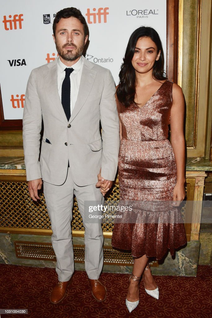Casey Affleck (L) and Floriana Lima attend the 'The Old Man & The Gun' premiere during 2018 Toronto International Film Festival at The Elgin on September 10, 2018 in Toronto, Canada.
