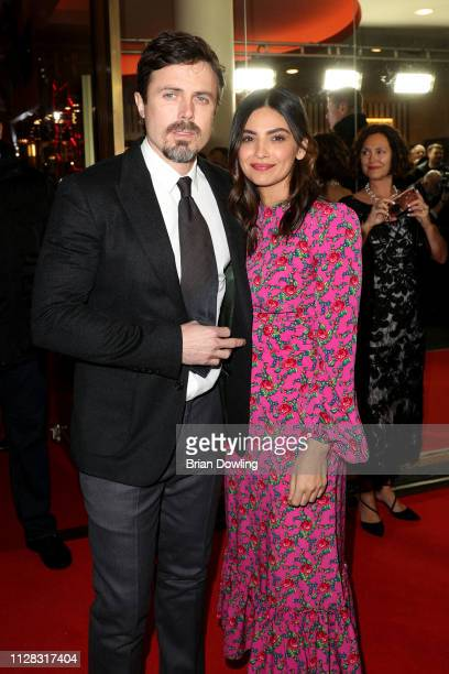 Casey Affleck and his girlfriend Floriana Lima attend the Light Of My Life premiere during the 69th Berlinale International Film Festival Berlin at...