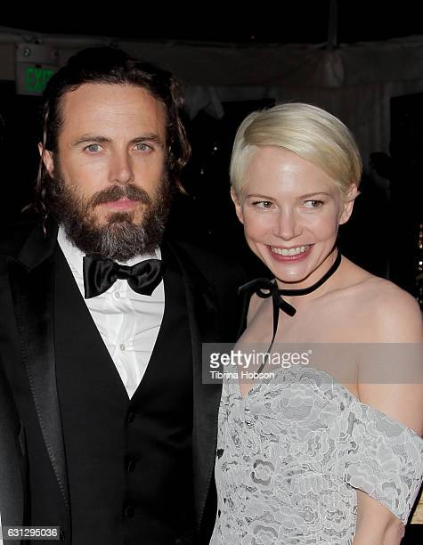 Casey Affleck and Michelle Williams attend Amazon Studios Golden Globes Party at The Beverly Hilton Hotel on January 8, 2017 in Beverly Hills,...