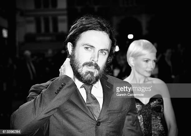 Casey Affleck and Michelle Williams attend the 'Manchester By The Sea' International Premiere screening during the 60th BFI London Film Festival at...