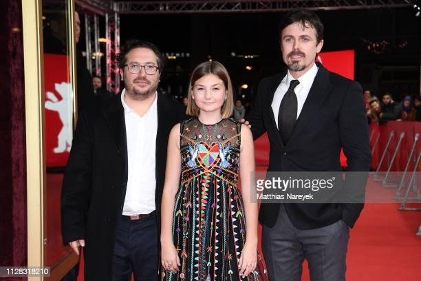 Casey Affleck Anna Pniowsky and Teddy Schwarzman attend the Light Of My Life premiere during the 69th Berlinale International Film Festival Berlin at...