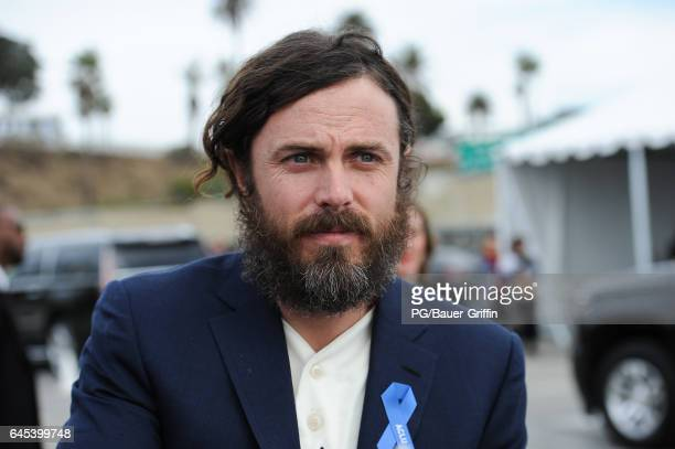 Casey Affleck arrives at the Film Independent Spirit Awards on February 25, 2017 in Los Angeles, California.