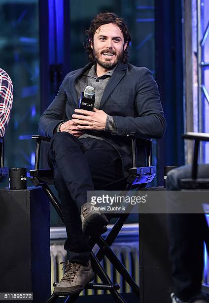Casey Affleck attends AOL Build to discuss his new film 'Triple 9' at AOL Studios on February 23, 2016 in New York City.