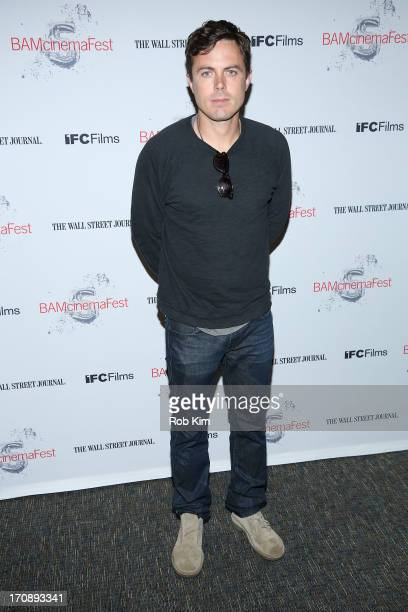 Casey Affleck attends BAMcinemaFest 2013 And The Cinema Society Host The Opening Night Premiere Of Ain't Them Bodies Saints at BAM Harvey Theater on...