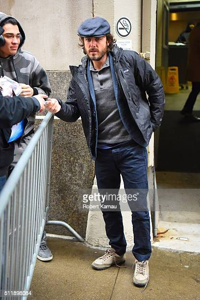 Casey Affleck attends the AOL Build Speaker Series on February 23 2016 in New York City