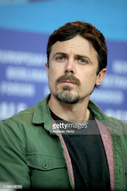 """Casey Affleck attends the """"Light Of My Life"""" press conference during the 69th Berlinale International Film Festival Berlin at Grand Hyatt Hotel on..."""