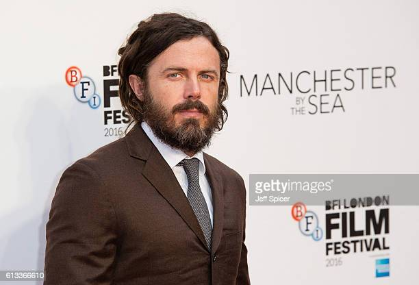 Casey Affleck attends the 'Manchester By The Sea' International Premiere screening during the 60th BFI London Film Festival at Odeon Leicester Square...