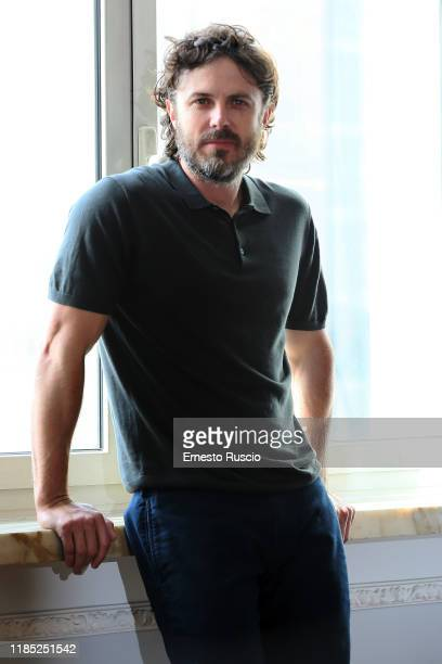"""Casey Affleck attends the photocall of the movie """"Light Of My Life"""" at Hotel Sina Bernini Bristol on November 03, 2019 in Rome, Italy."""