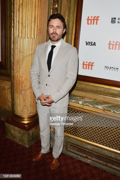 Casey Affleck attends the The Old Man The Gun premiere during 2018 Toronto International Film Festival at The Elgin on September 10 2018 in Toronto...