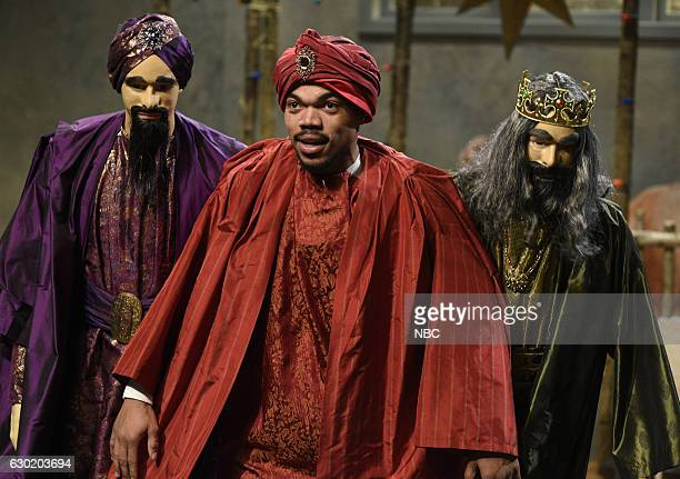 LIVE 'Casey Affleck' Episode 1714 Pictured Chance The Rapper during the 'New York Now' sketch on December 17 2016