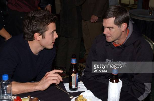 Casey Affleck Gus Van Sant during 2002 Sundance Film Festival Opening Night Gala at Marriot Hotel in Park City Utah United States