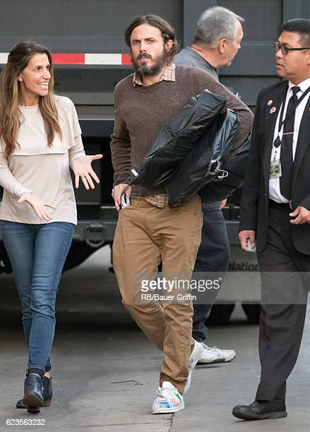 Casey Affleck is seen at 'Jimmy Kimmel Live' on November 15 2016 in Los Angeles California