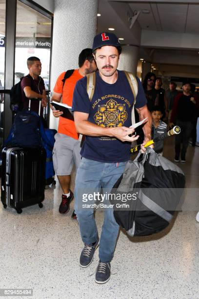 Casey Affleck is seen at LAX on August 10 2017 in Los Angeles California