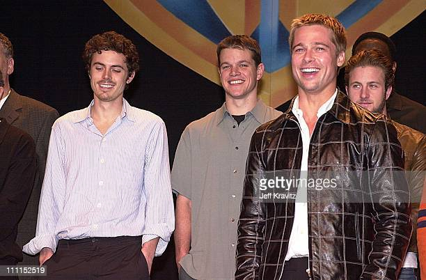 Casey Affleck Matt Damon Brad Pitt Scott Caan during Showest Warners Lunch