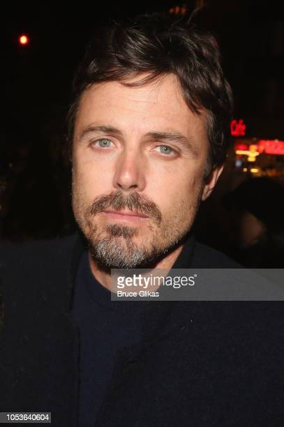 """Casey Affleck poses at the opening night of the new Kenneth Lonergan play """"The Waverly Gallery"""" on Broadway at The Golden Theatre on October 25, 2018..."""