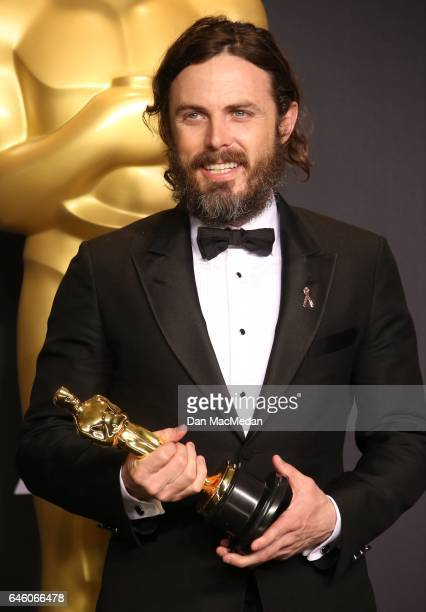 Casey Affleck poses in the press room with the Oscar for Best Actor for 'Manchester By The Sea' at the 89th Annual Academy Awards at Hollywood...