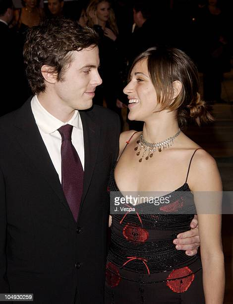 Casey Affleck Summer Phoenix during 2002 Vanity Fair Oscar Party Hosted by Graydon Carter Arrivals at Morton's Restaurant in Beverly Hills California...