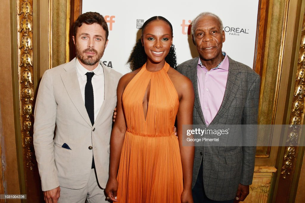 Casey Affleck, Tika Sumpter and Danny Glover attend the 'The Old Man & The Gun' premiere during 2018 Toronto International Film Festival at The Elgin on September 10, 2018 in Toronto, Canada.