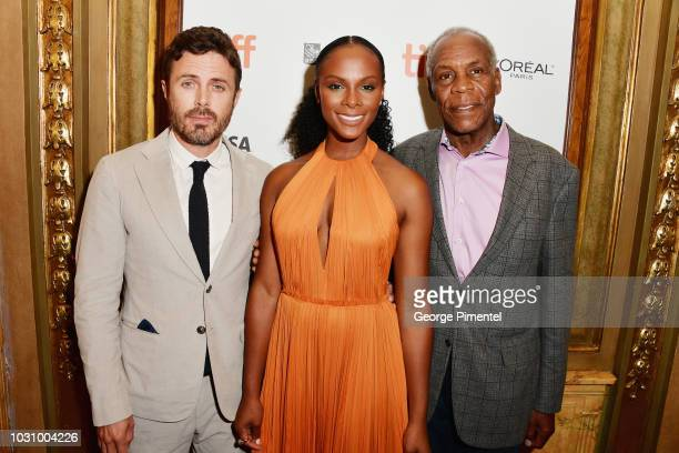 Casey Affleck Tika Sumpter and Danny Glover attend the The Old Man The Gun premiere during 2018 Toronto International Film Festival at The Elgin on...